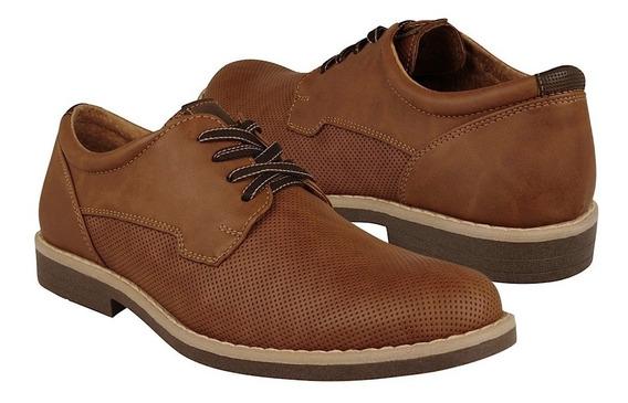 Zapato Casual Stylo Para Caballero Simipiel Café 9515g1