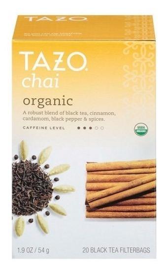 Té Chai Organico Tazo 54g 20 Bolsitas Se