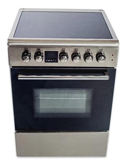 Cocina Electrica 4 Hornallas Vitroceramico Acero Inox Nueva