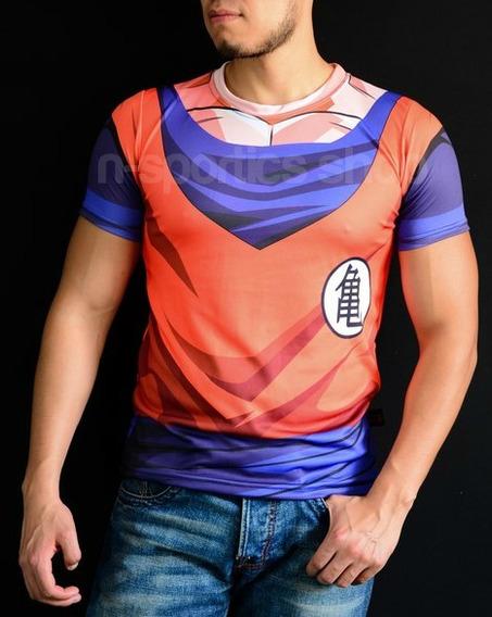 Playera Lycra Dragon Ball Goku Vegeta Superheroe Gym Anime
