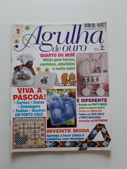 Revista Agulha De Ouro Ponto Cruz Quarto Do Bebê D709