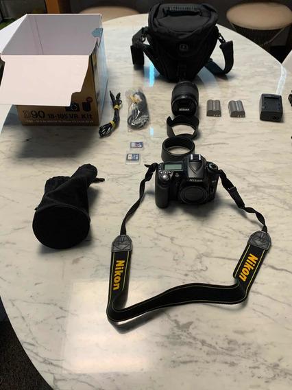 Câmera Nikon D90 +lente 18-105 Vr - Impecáve C/5183 Cliques