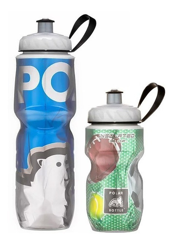 Kit 2 Caramanholas Polar Bottle: Ball 355ml E Bbblue 710ml