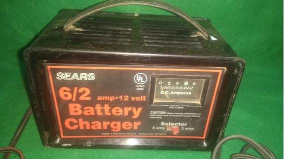 Carregador De Bateria Sears 6/2 Amp + 12v