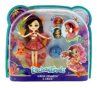 Enchantimals Clarita Clownfish Pelo Cambia De Color Original