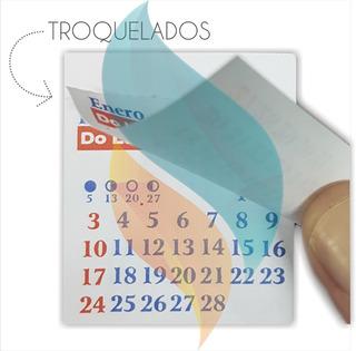 Almanaque Calendario Mignon 5.5x5cm. X100 U. Troquelado