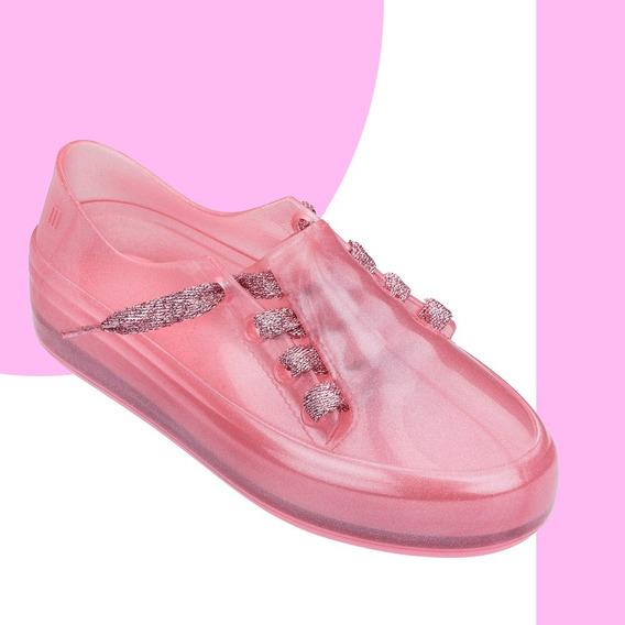 Melissa Infantil Mel Ulitsa Sneaker Special Rosa Branco Preto Original + Nf