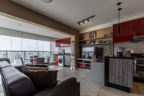 Apartamento Em Brooklin Paulista, São Paulo/sp De 58m² 1 Quartos Para Locação R$ 5.000,00/mes - Ap270601