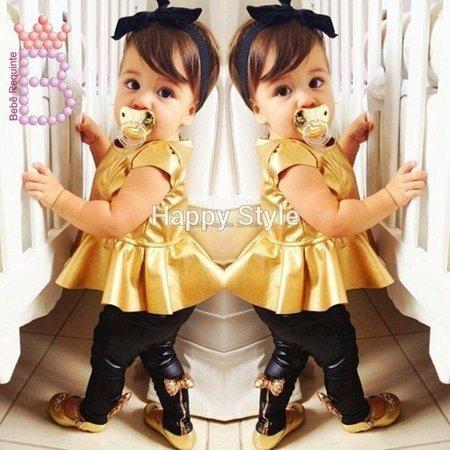 Conjunto Infantil Legging Roupa Menina 3 Peça Festa Menina