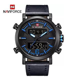 Reloj Hombre Naviforce Nf9135 Multifuncion Calidad Cuero