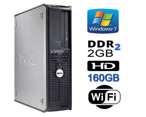 Cpu Dell 330 Core 2 Duo 2gb Hd 160gb Dvd Wifi + Frete Grátis