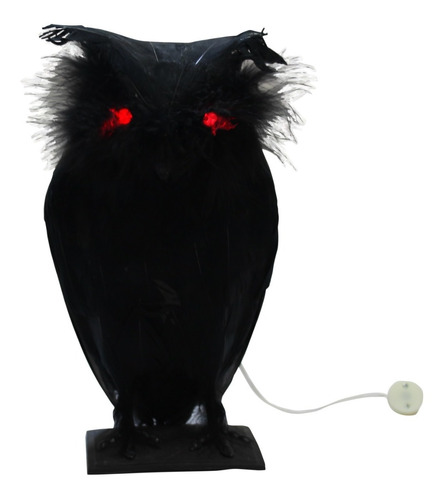Imagen 1 de 1 de Decoración Búho Sombrío Negro Halloween