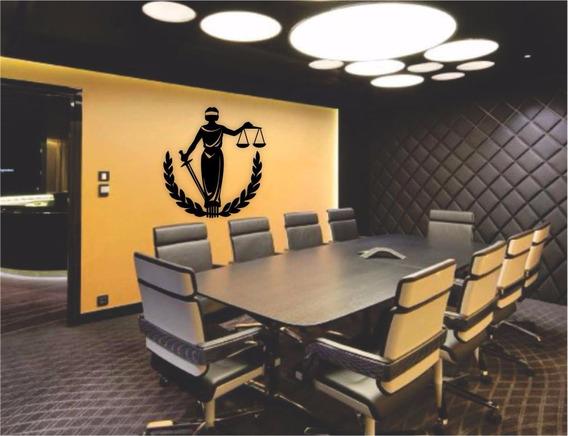 Quadro Parede Advogacia Escritório Deusa Da Justiça Mdf 90cm