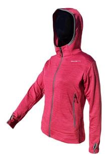 Campera Micropolar Dama Capucha Termica Polar Running Gym