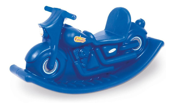 Moto Mecedora Infantil Reforzada Azul
