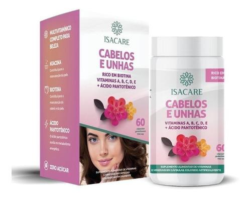 Isacare Vitamina A,b,c,d,e +acido Pantotênico Cabelo E Unha