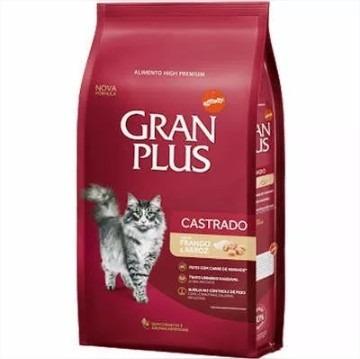 Ração Guabi Gran Plus Gatos Castrados Frango E Arroz - 10kg
