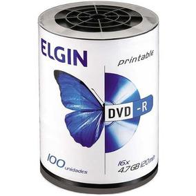 Mídia Dvd-r Printable 4.7gb 120min 16x 100und Elgin Envio24h