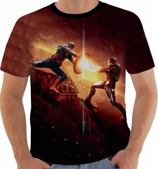 Camiseta Capitão América Guerra Civil Civil War Marvel M053