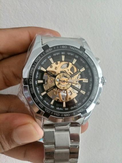 Relógio Forsining Esqueleto Top Luxo Aço Inoxidável
