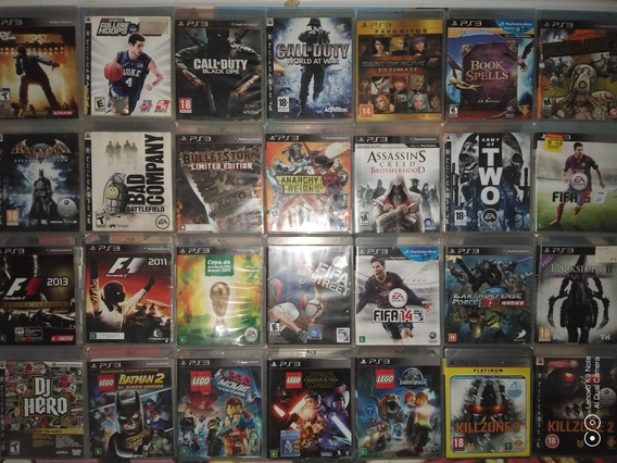 Pacote 4 Jogos Ps3 Mid Fisica Kit Jogos De Ps3 Playstation 3