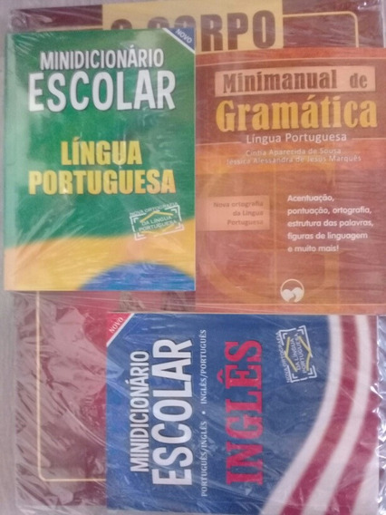 Kit Com2 Dicionário Português E Inglês Mini Manual Gramática