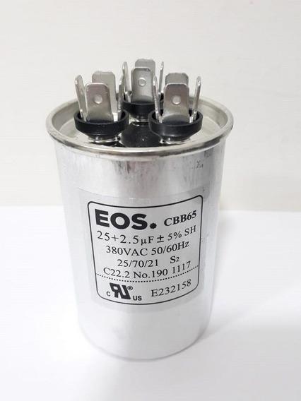 Capacitor Eos D124843 25+2,5mfd 440v