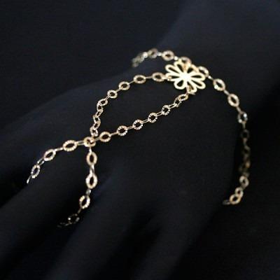 Pulseira Semi Jóia Folheado A Ouro Jade 18cm