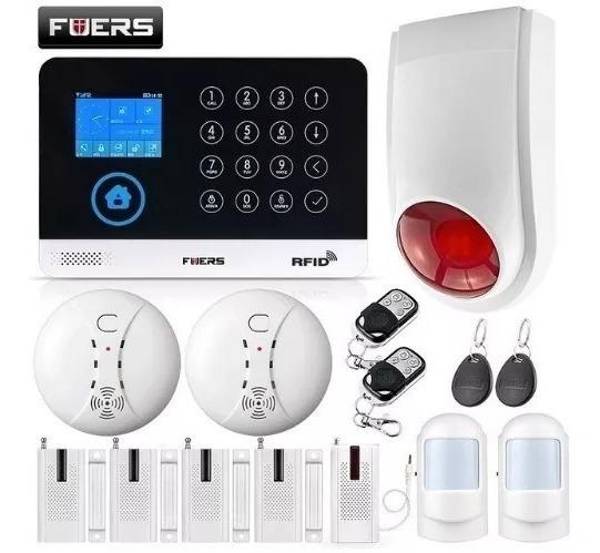 Alarma De Seguridad Inalámbrico Sensor De Humo Sirena Tactil