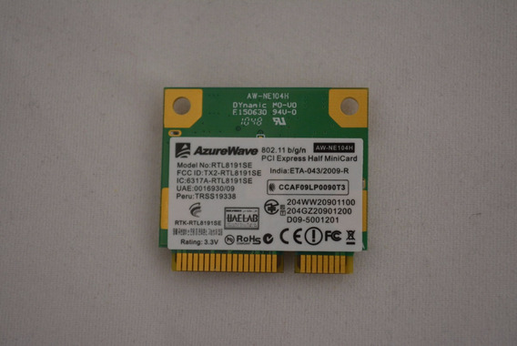 Placa Rede Wifi Realtek Wireless Rtl8191se Mini Pci W7415