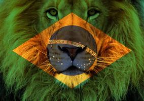 Bandeira Personalizada Leão Judá Brasil