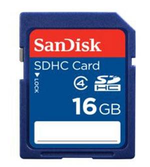 Cartão De Memória Sdhc 16gb Sandisk Classe 4 C/nf