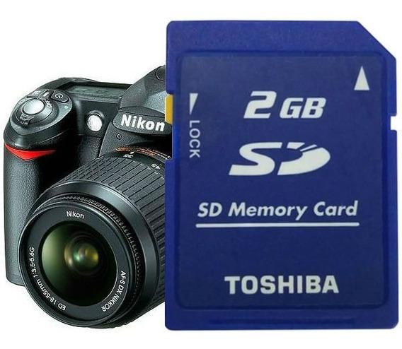Cartão De Memória Sd Secure Digital 2gb / Nikon D50 / R022 T
