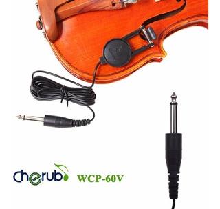 Microfono De Contacto Para Violin Cherub Wcp-60v