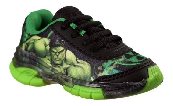 Tênis Infantil Hulk Com Luz Leds