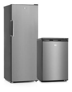 Heladera Vondom Acero 335lt+freezer Bajo Mesada 85lt-cuotas