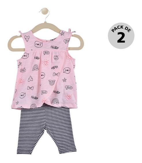 Set 2 Pzas Blusa Y Pants Carters Rosa Niña 239g8960