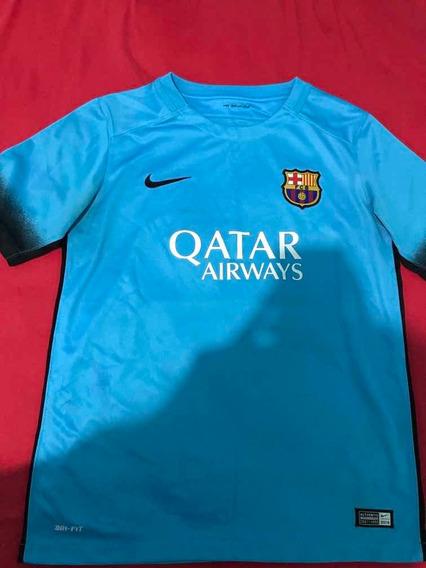 Camiseta Feminina Fcb Nike Barcelona Futebol Clube