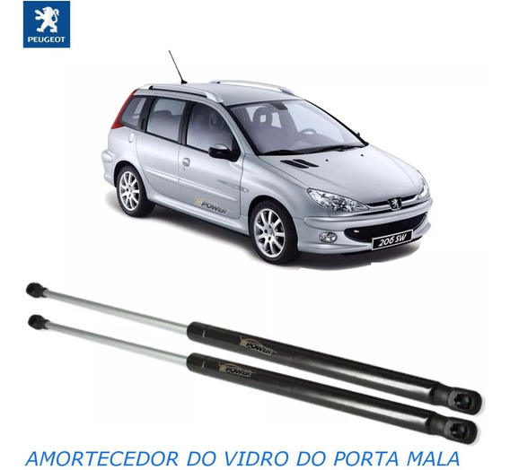 Par De Amortecedor Do Vidro Do Porta Mala Peugeot 206 Sw