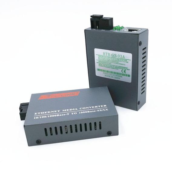 Par Netlink Htb-gs-03-ab Conversor Fibra Ótica 20km Giga Wdm