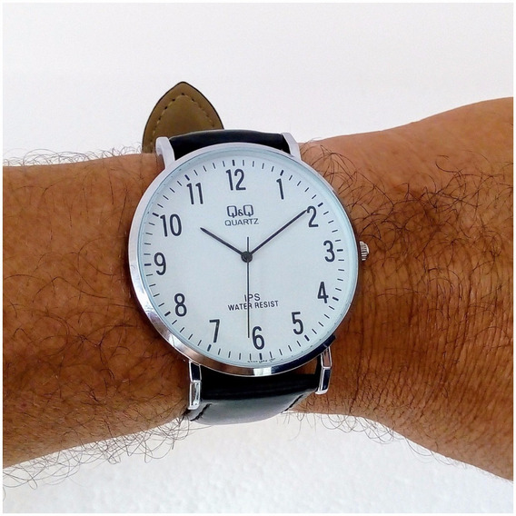 Relógio Masculino Qq 304y Original Slim Executivo Luxo Vip