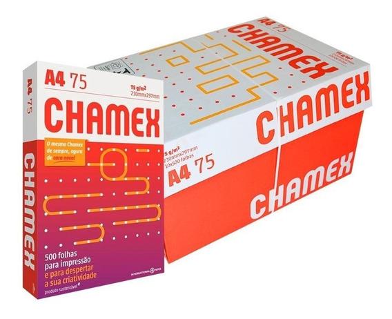 Papel Sulfite A4 Chamex Caixa Com 10 Pacotes - 5000 Folhas