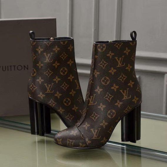 Botinha Louis Vouiton Mega Luxo Premium
