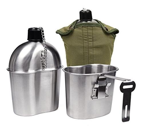 Goetland Wwii Us Military Canteen Kit De Acero Inoxidable 1q