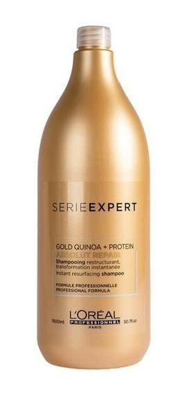 Shampoo Absolut Repair Gold Quinoa Reparación X1500ml Loreal
