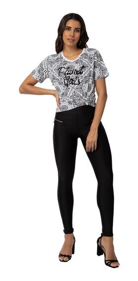 Camiseta Básica Manga Curta Planet Girls 35402