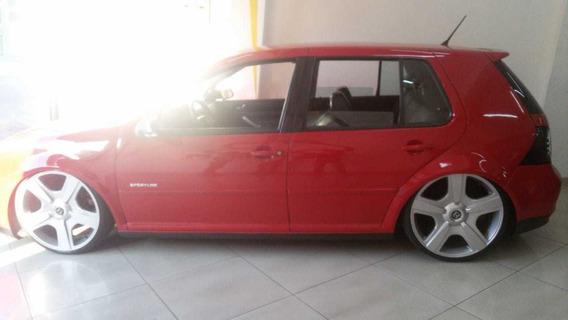 Vw Golf Sportline 1.6 Completo -rodas 21 - Bancos Em Couro