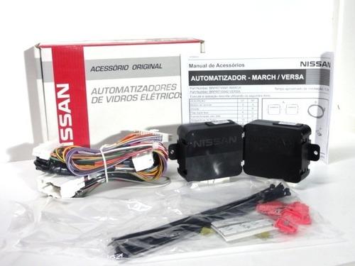 Kit Automatizador Vidros Nissan March Versa 13/18 Original