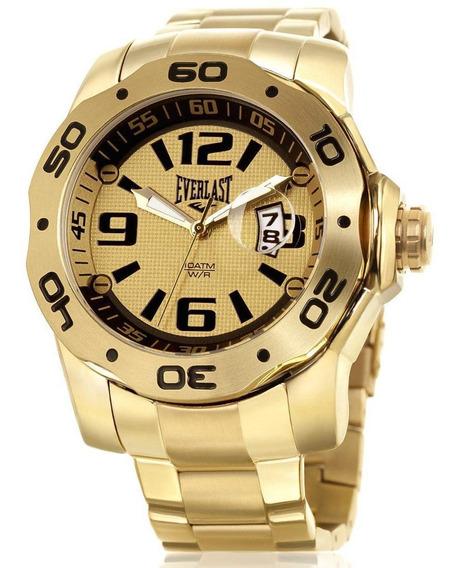 Relógio Pulso Everlast Masculino Aço Calendário E444