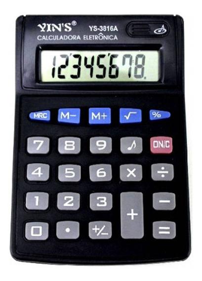 Calculadora Eletrônica De Mesa 8 Dígitos Yins Ys-3816a